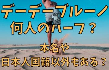 デーデーブルーノは何人のハーフ?本名や日本人国籍以外もある?