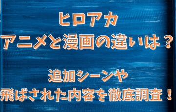 ヒロアカアニメと漫画の違いは?追加シーンや飛ばされた内容を徹底調査!