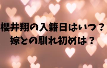 櫻井翔の入籍日はいつ?嫁との馴れ初めは?